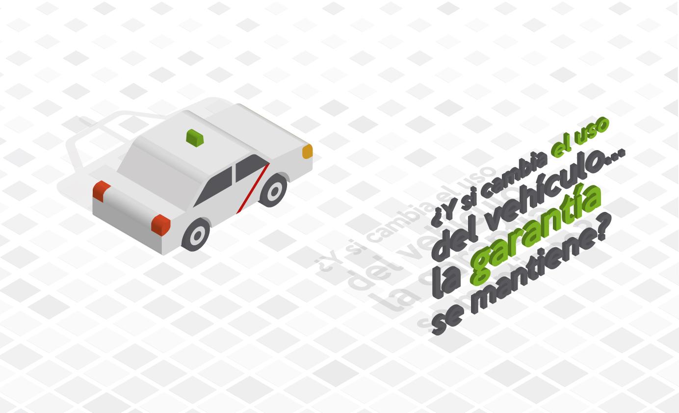 ¿… la Garantía del vehículo cambia en función del uso que se le dé?